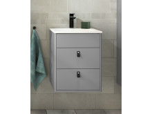 Bathroom cabinet Graphic, 45 cm in gray