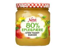 Nora Syltetøy 80% eple og pære uten tilsatt sukker