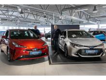 Nye Toyota Corolla Hybrid og Toyota Prius er klare for Harstad.