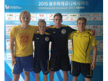 Svenska bordtennislaget på Universiaden Gwangju 2015