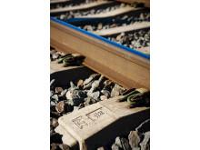 Abetongs betongsliper i järnvägsspår