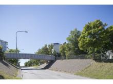 Rinkebystråket. Platsen för det nya torget augusti 2013.