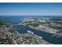 Flygbild Göteborgs hamn