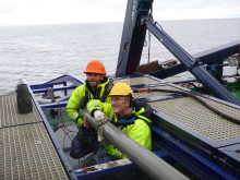 Tommaso Tesi and Pete Hill piston coring 3