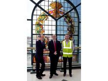 L-R:Rochdale Council Leader Colin Lambert, Martin Ballard, Wheatsheaf Centre Manager Martin Ballard and Jim Weaver from Globe MSL
