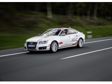 Audi A7 piloted driving concept autobahn A9 2016
