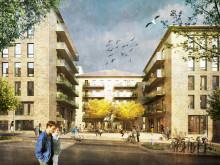 Visionsbild: Södra torget, Södra kvarteret, Vattentornsparken, Ulleråker