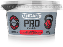 Lindahls PRO Kvarg+ med smak av strawberry & lime pie
