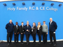 ROAD SAFETY: Dave Godley, assistant casualty reduction officer, Triumph Kenedy, Thomas Rooney, Wendy Andrew, assistant casualty reduction officer, Cassy Young, Heather Whiteman, Lewis Holt and Stuart Howarth, casualty reduction officer