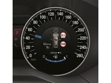 Nye S-MAX med Intelligent Hastighetsbegrenser - her vist på speedometeret