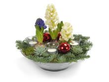 Julgrupp med hyacinter