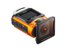 Ricoh WG-M2. orange med UV-skydd 2