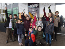 Local children fill Milton Keynes planters