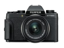 FUJIFILM X-T100 black and XC15-45 with grip