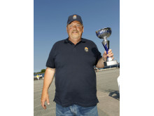 Vinnare! Birger Lilja, ordförande Carlscrona Veteranbåtsklubb, tog hem priset People's Choice.