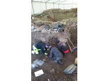 Arkeologer från Göteborgs universitet
