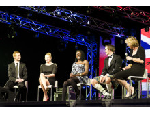 Greg Rutherford, Rebecca Adlington, Christine Ohuruogu, Tim Baillie and Katherine Grainger at the SportsBall in 2012