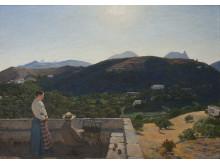 """Niels Skovgaard, """"Udsigt fra vor bolig på Naxos"""", 1895"""
