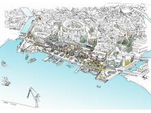 Visionsbild över Skeppsbron