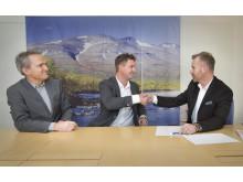 Anders E Johansson, Johan Granberg och Robert Lindkvist DB Schenker