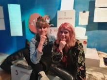 Pia Hansson och Jienny Gillerstedt kommer prata hållbara utställningsrum med hjälp av innovativ teknik.