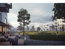 Visualisering, Östermalms Park, Kristianstad
