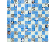 Mosaik Eventyr Den Lille Havfrue Blå 30x30,  1.298 kr. M2.