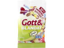 Malaco Gott & Blandat Supersur mindre socker