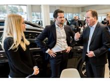 Statsministern i samtal med Hanna Skoghag och John Marnell