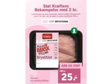 Når du køber ROSE kyllingebrystfileter i Lidl, støtter du automatisk Kræftens Bekæmpelse med 2 kr.