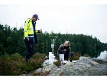 Provtagning i Gårdsjön, Filip Moldan och Sara Jutterström