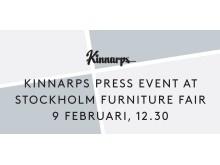 Kinnarps press event at Stockholm Furniture Fair