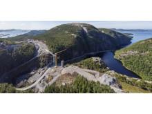 Adkomstveien Kvenndalsfjellet vindpark og ny bro på FV 723