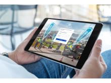 Swecon Baumaschinen GmbH - Ansicht mySwecon login Tablet
