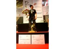 Robin Olsson från Kista Gymnasium tog SM-guld i plåtslageri