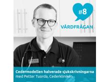 Petter Tuorda, distriktsläkare och verksamhetschef på Cederkliniken, intervjuas i Vårdfrågan.