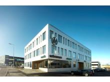 Ventilohuset i Varberg där Wästbygg har sitt kontor.