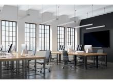Nobo Widescreen glasstavle i møterom