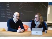 Terje Aas og teammedlem og løsningsspesialist Marit Helland