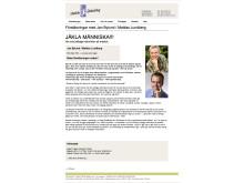 """""""Jäkla Människa"""" med Mattias Lundberg och Jan Bylund arrangerat av Fortbildarna"""