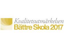 Logotype Kvalitetsutmärkelsen Bättre Skola 2017
