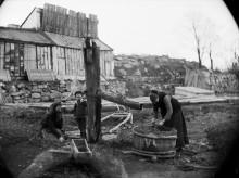 Vattenpump i Eriksbergsområdet på 1890-talet