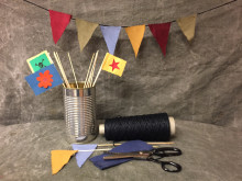 Makerspace för unga på Kulturcentrum 25 mars - tema flaggor