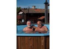 Björn Hellberg och Ingvar Oldsberg på Hotell Klockargården