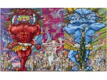 Takashi Murakami Red Demon and Blue Demon with 48 Arhats, 2013