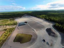 Deponi för muddermassor på Storskogens avfallsanläggning