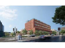 Nye Ruseløkka skole skal se slik ut. Illustrasjon Gasa arkitekter