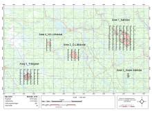 Karta över brandområden som flygfotograferats 2018-09-05