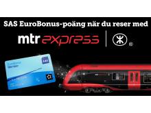 MTR Express ingår partnerskap med SAS Eurobonus