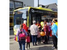 The Sunderland Pride bus participates in the Sunderland Pride march